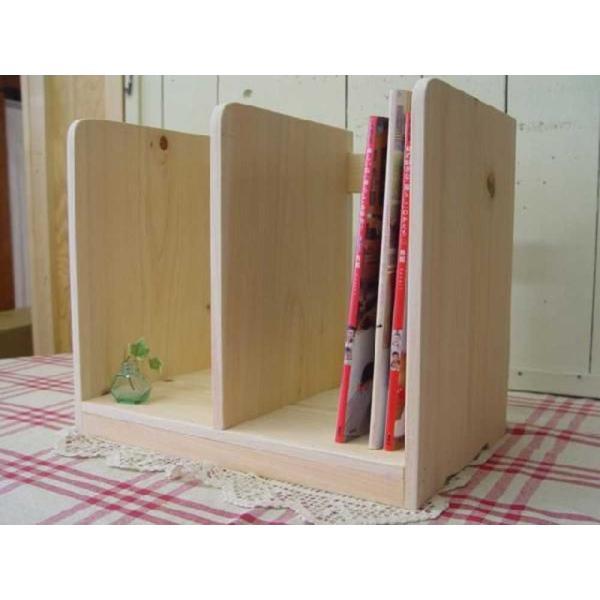 本棚 無塗装白木 w40d25h34cm ブックスタンド 木製 ひのき 受注製作|angelsdust|07