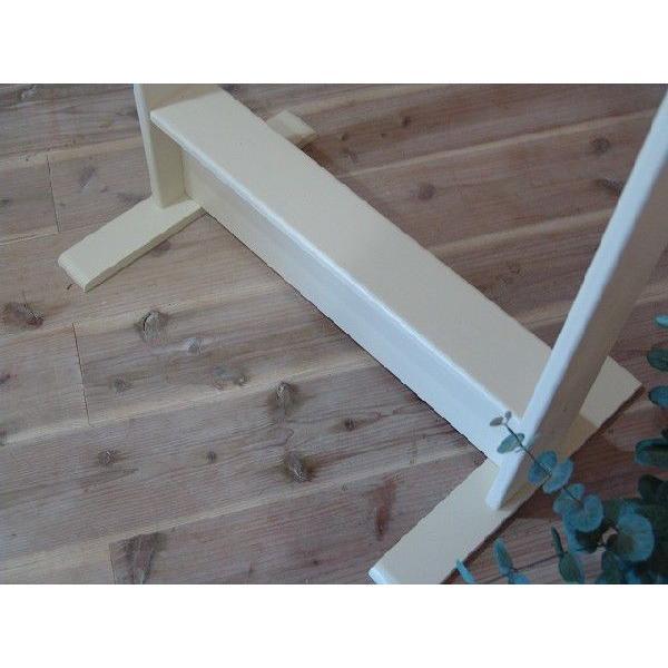 ハンガーラック ワイド アンティークホワイト w60d40h130cm 組み立て式 木製 国産ひのき 受注製作|angelsdust|05