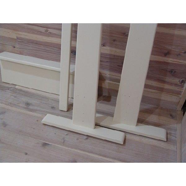 ハンガーラック ワイド アンティークホワイト w60d40h130cm 組み立て式 木製 国産ひのき 受注製作|angelsdust|06