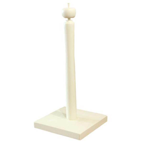 キッチンペーパースタンド アップル アンティークホワイト 17x17x38cm  コストコサイズ280mm対応 木製 ひのき 受注製作|angelsdust