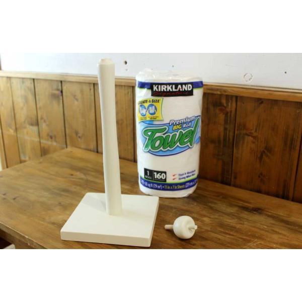 キッチンペーパースタンド アップル アンティークホワイト 17x17x38cm  コストコサイズ280mm対応 木製 ひのき 受注製作|angelsdust|06