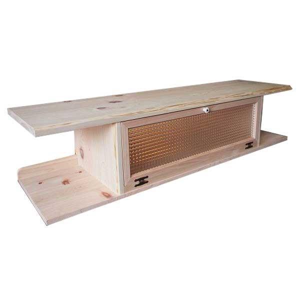 テレビ台 60型  チェッカーガラス扉 無塗装白木 w137d40h31.5cm 自然木天板 木製 ひのき 受注製作|angelsdust