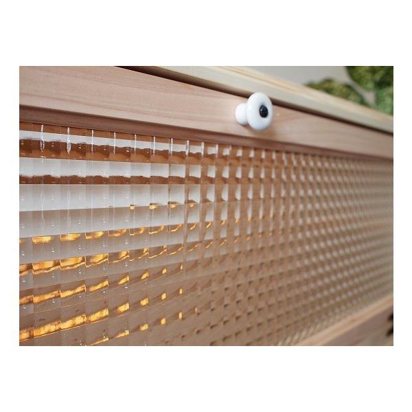 テレビ台 60型  チェッカーガラス扉 無塗装白木 w137d40h31.5cm 自然木天板 木製 ひのき 受注製作|angelsdust|04