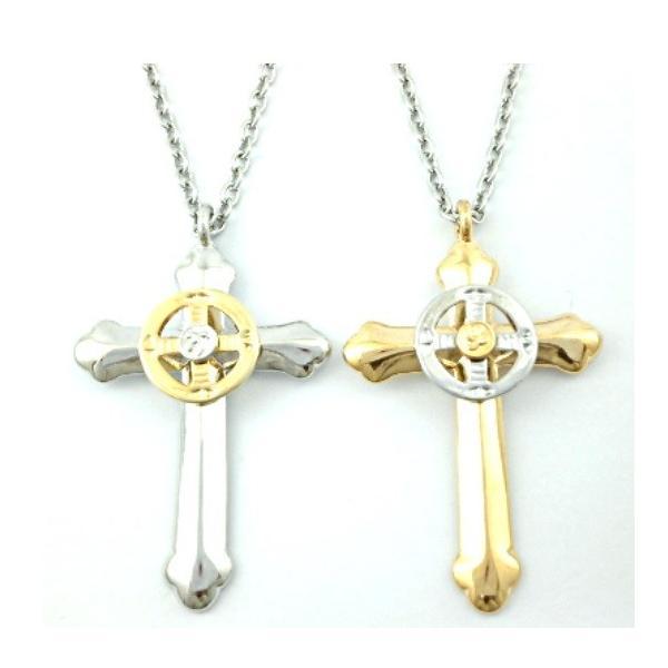 ゴローズ好きに センターサークル クロス ネックレス 十字架 イーグル メンズ ネックレス|angelshokora