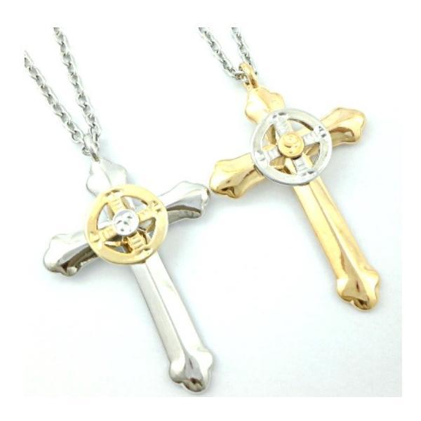 ゴローズ好きに センターサークル クロス ネックレス 十字架 イーグル メンズ ネックレス|angelshokora|02