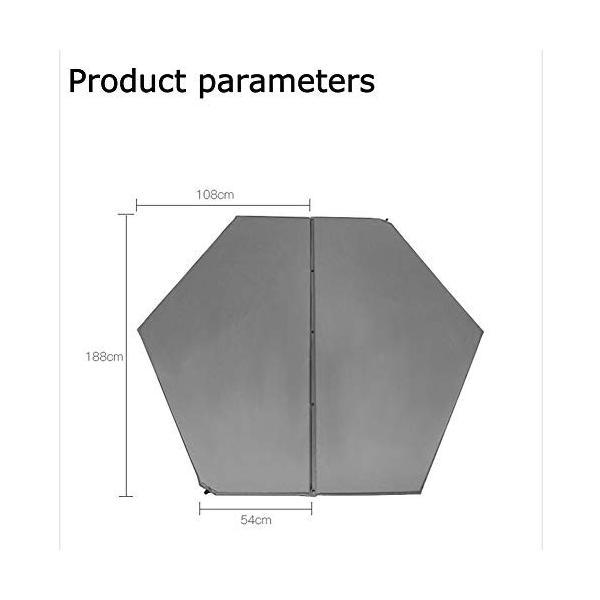 自動膨張式クッション 幅の広い厚みのあるマット ピクニック キャンプ アウトドア テント 睡眠マット 六角形のエアベッド グリーン|angelsnow