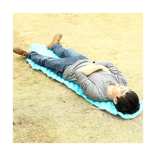 Balight 空気注入式睡眠マット 超軽量 コンパクト 空気注入式パッド マットレス 防湿 エアベッド ハイキング バックパッキング キャンプ|angelsnow|04