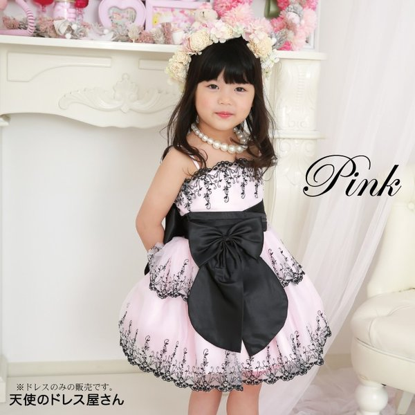 スージー リボンブローチ付き  子供ドレス 全2色 100cm-150cm  ネコポス不可 返品交換不可 M便1/0|angelsrobe|03