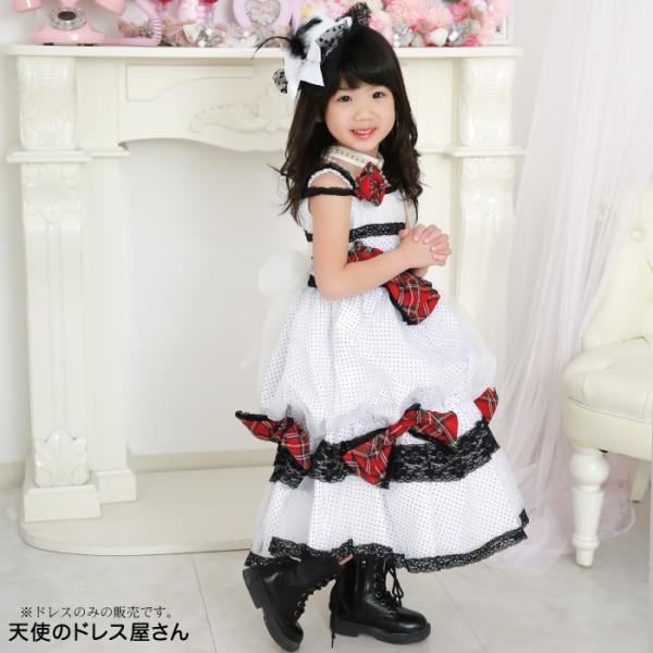 レベッカ  ハット風ヘッドアクセ付き  子供ドレス ホワイト 100cm-150cm  ネコポス不可 返品交換不可 M便1/0 |angelsrobe|07