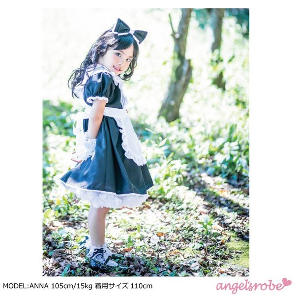 不思議の国のアリス ブラック  エプロン/カチューシャ付き  子供服 110-150cm ネコポス不可 M便[1/0]|angelsrobe|04