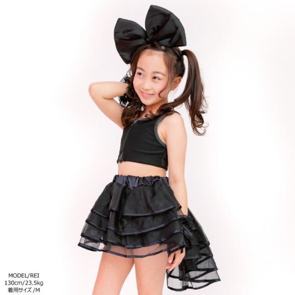 キッズ 子供服 ダンス キュートトップ 子ども 全3色 ストライプ / ブラック / レッド 110cm/130cm/150cm ダンス衣装 単品ならネコポス可能 [M便1/1]|angelsrobe|08