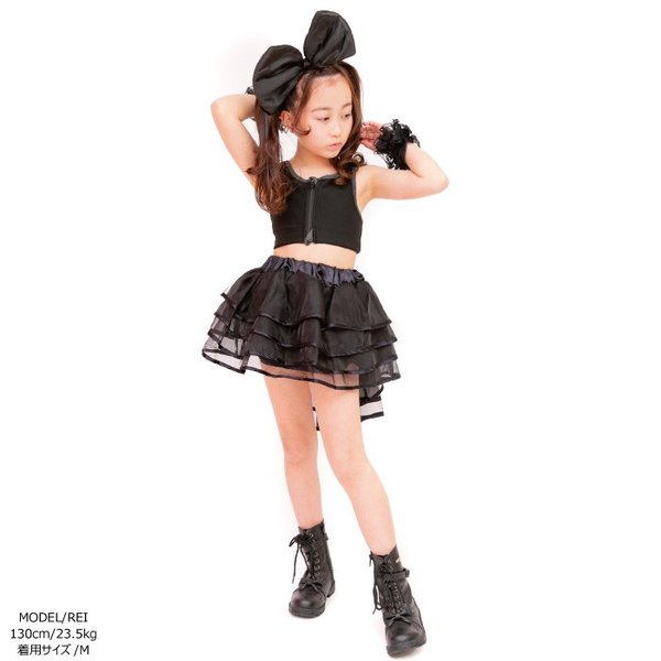 キッズ 子供服 ダンス キュートトップ 子ども 全3色 ストライプ / ブラック / レッド 110cm/130cm/150cm ダンス衣装 単品ならネコポス可能 [M便1/1]|angelsrobe|09