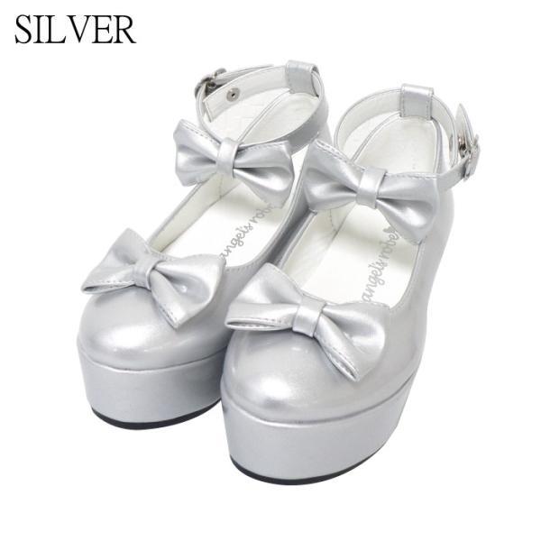 ダブルリボンパンプス 子供靴 全3色 18-23cm ネコポス不可 返品交換不可 [M便1/0]|angelsrobe|03