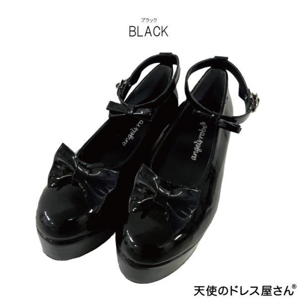 ダブルリボンパンプス 子供靴 全3色 18-24cm ネコポス不可 返品交換不可 M便[1/0]|angelsrobe|02