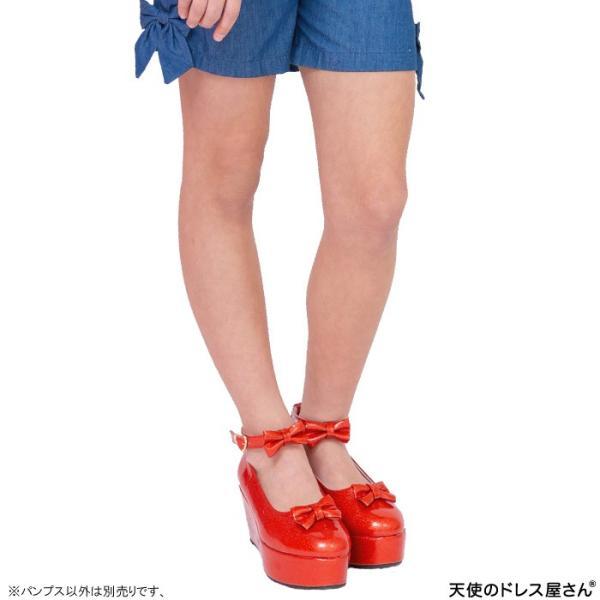 ダブルリボンパンプス 子供靴 全3色 18-24cm ネコポス不可 返品交換不可 M便[1/0]|angelsrobe|06