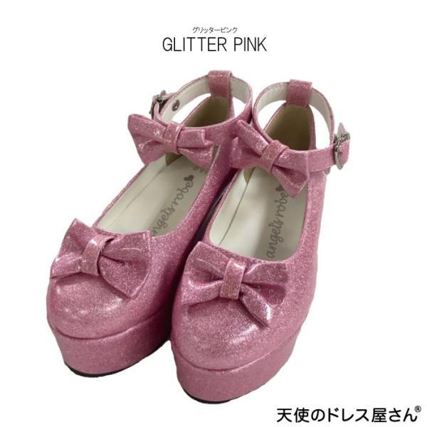 ダブルリボンパンプス 子供靴 全3色 18-24cm ネコポス不可 返品交換不可 M便[1/0]|angelsrobe|07