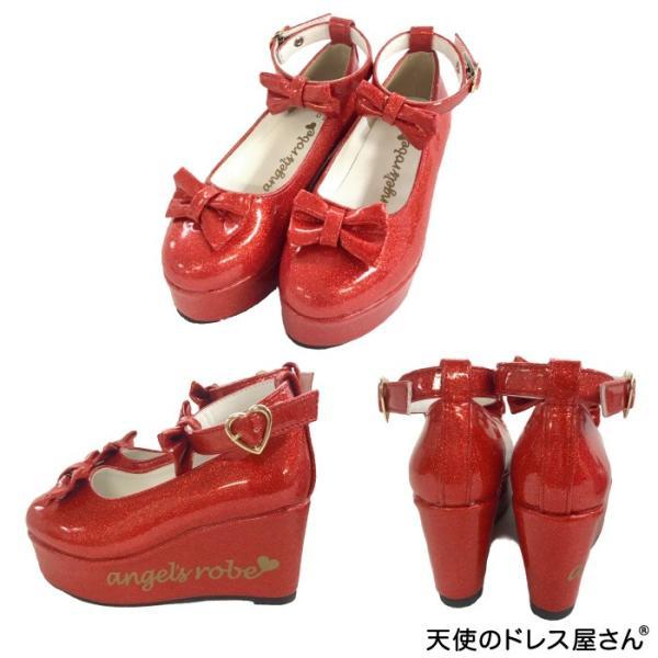 ダブルリボンパンプス 子供靴 全3色 18-24cm ネコポス不可 返品交換不可 M便[1/0]|angelsrobe|10