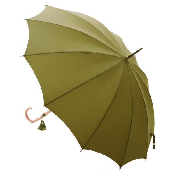 WAKAO ラタンハンドル12本骨雨長傘