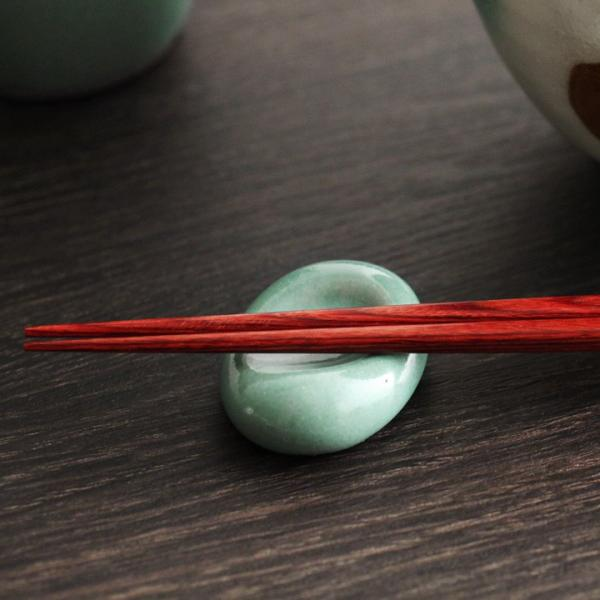 益子焼 和田窯 伝統釉 空豆 箸置き