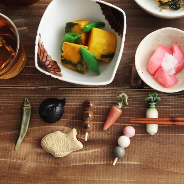 野菜/たい焼き/鉄瓶の箸置き