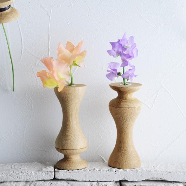 eN product flower vase フラワーベース オーク材