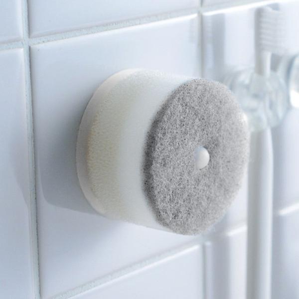 マーナ 【きれいに暮らす】 吸盤付き洗面スポンジ/MARNA