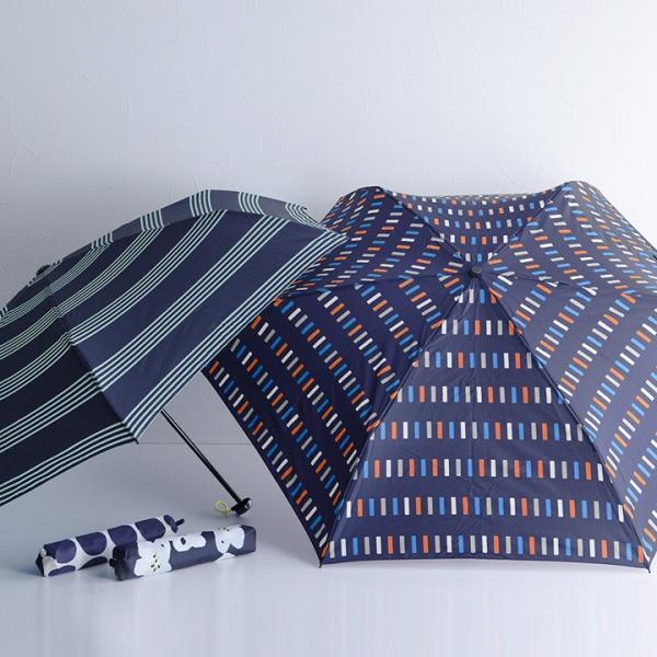 HUS. UV加工 カーボンスリムワイド レイン 軽量折りたたみ傘/Carbon E Slim55