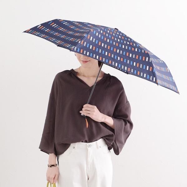 HUS. UV加工 カーボンスリムワイド レイン 軽量折りたたみ傘/Carbon E Slim55 angers 10