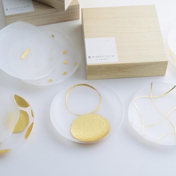 豆皿 箔mamezara toumei 2枚セット木箱入