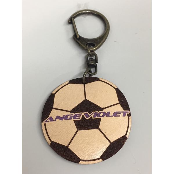 サッカーボール型レザーキーホルダー|angeviolet