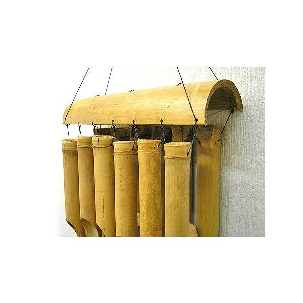 バンブーの風鈴12連 ナチュラル[竹ベル長さ40cm]アジアン雑貨 バリ雑貨 タイ エスニック アジアンインテリア|angkasa|03