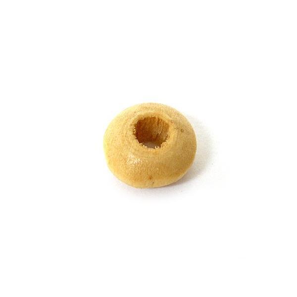 アジアン雑貨 アクセサリーパーツ 木のビーズ 15個入り ドーナツ型 ナチュラル