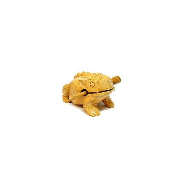 ゲコゲコかえる モーコック ナチュラル LLサイズ 15cm アジアン雑貨 バリ雑貨 アジアの楽器  angkasa