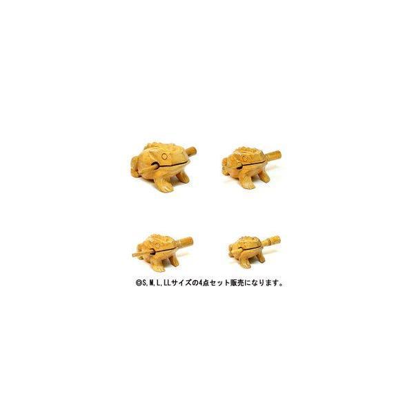 ゲコゲコかえる モーコック ナチュラル 4点セット アジアン雑貨 バリ雑貨 アジアの楽器 |angkasa