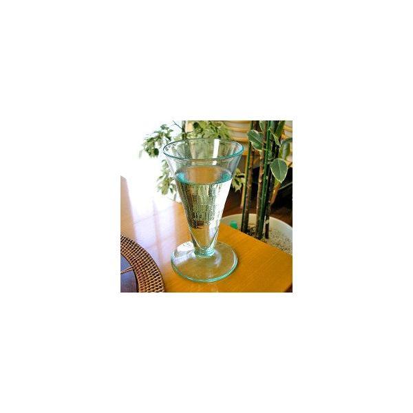 ガラスのコップ タンブラー 足つき 15cm クリアー アジアン雑貨 バリ雑貨 エスニック おしゃれな ガラス グラス|angkasa