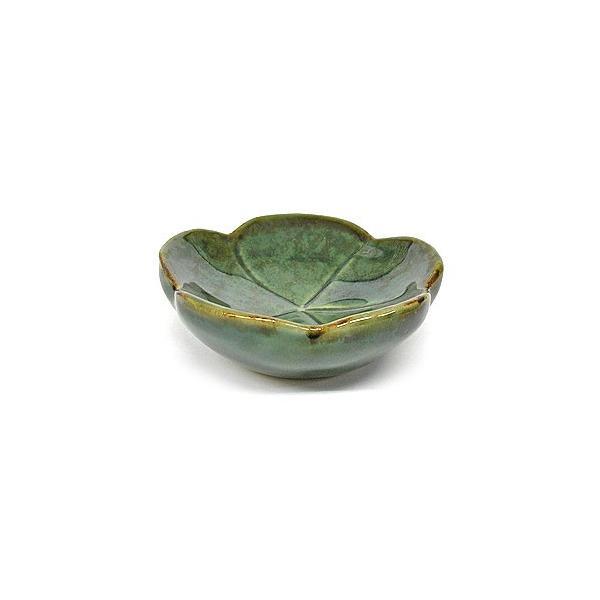 陶器の小皿 花型 グリーン 調味料皿 [直径約7.5cm]アジアン雑貨 バリ雑貨 angkasa 05