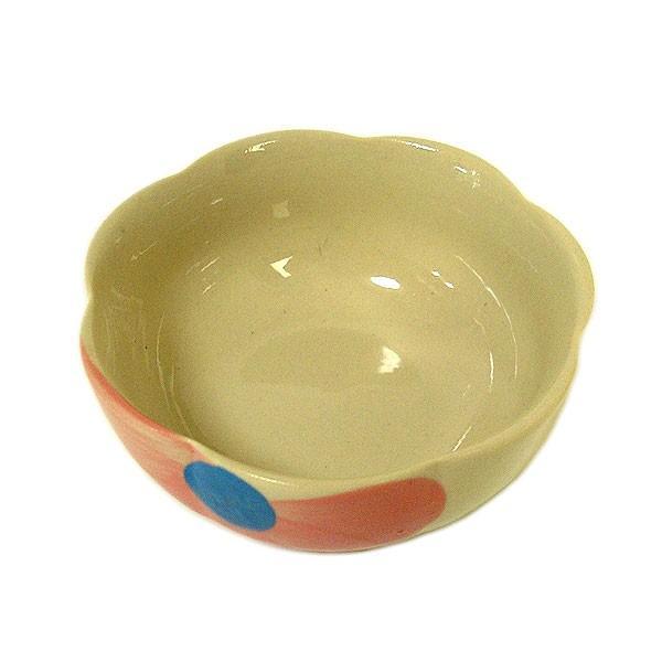 花柄 縁波 小皿 ピンクの花 お通し 小鉢 調味料皿 [直径9cmx3.5cm] おしゃれな アジアン食器 アジアン雑貨 バリ雑貨 ローカルな食器 おしゃれな小皿|angkasa|04