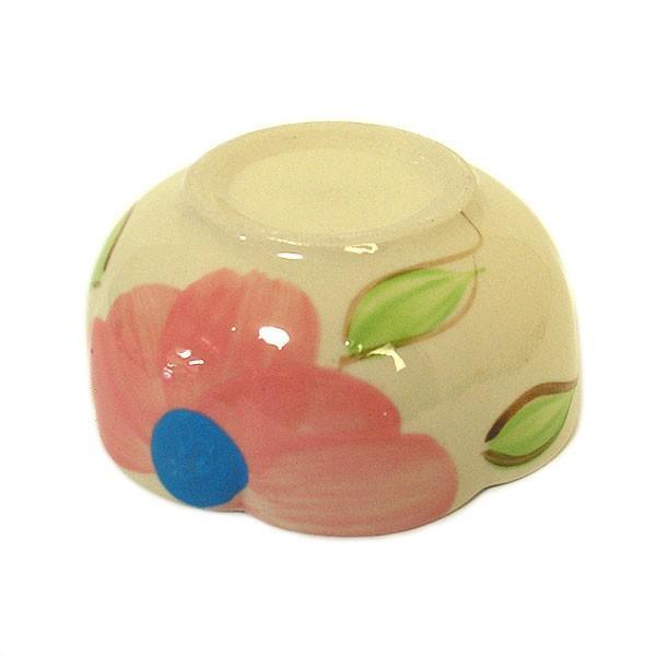 花柄 縁波 小皿 ピンクの花 お通し 小鉢 調味料皿 [直径9cmx3.5cm] おしゃれな アジアン食器 アジアン雑貨 バリ雑貨 ローカルな食器 おしゃれな小皿|angkasa|05