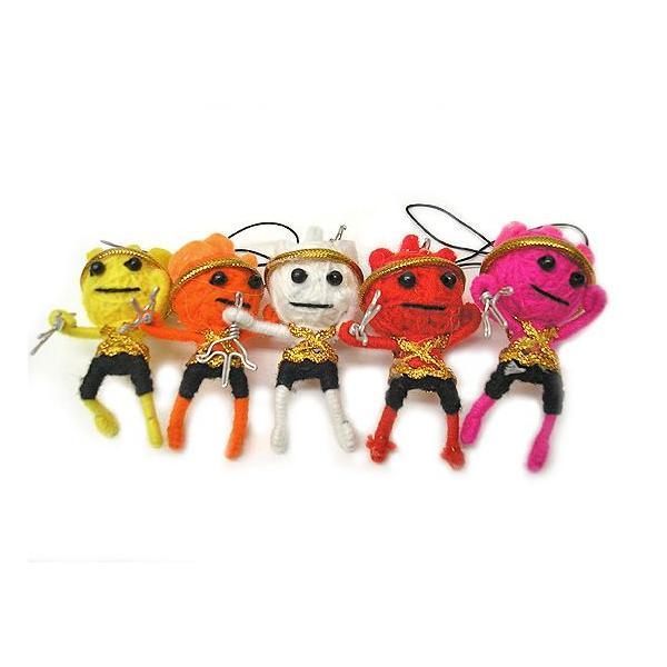アジアン雑貨 タイ雑貨 ブードゥー人形ストラップ ヒーロー Mサイズ 赤 [H.6cm] メール便対応|angkasa|05