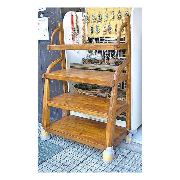 アジアン家具 アジアン雑貨 古木チークのディスプレイラック 4段 [H.約130cm]