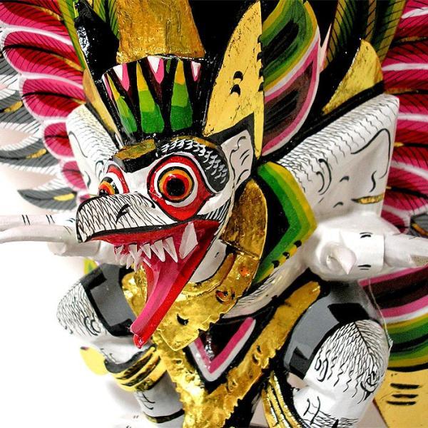 霊鳥ガルーダ[約H.65cm]白 木製 フィギュア 変わった置物 インテリア雑貨 アジアン雑貨 バリ雑貨 タイ|angkasa|04