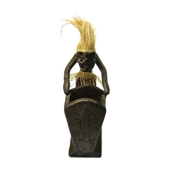 木彫りの原人 ペン立て/ナプキンホルダー アジアン雑貨 バリ タイ エスニック 手作り |angkasa|02