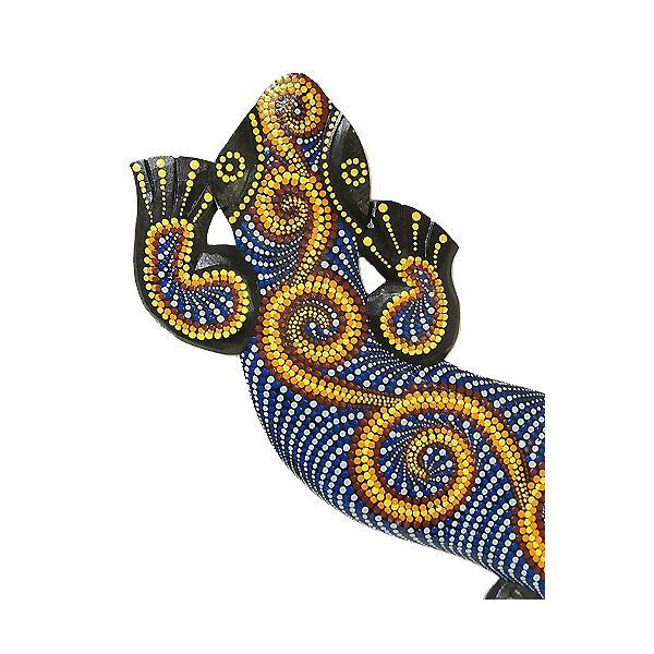 アジアン雑貨 バリ雑貨 壁掛け トカゲ 太目ドットペイント M [約95cm]|angkasa|02