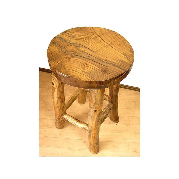 アジアン家具 アジアン雑貨 天然木 チークの椅子 イス スツール Lサイズ H.約60cm イス|angkasa|03
