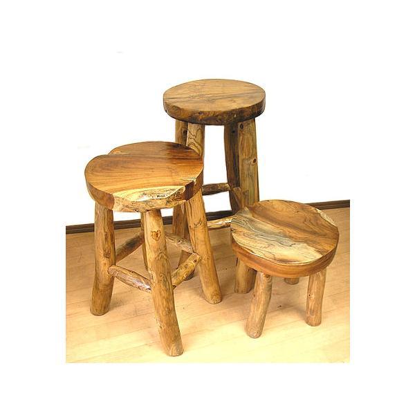 アジアン家具 アジアン雑貨 天然木 チークの椅子 イス スツール Lサイズ H.約60cm イス|angkasa|04