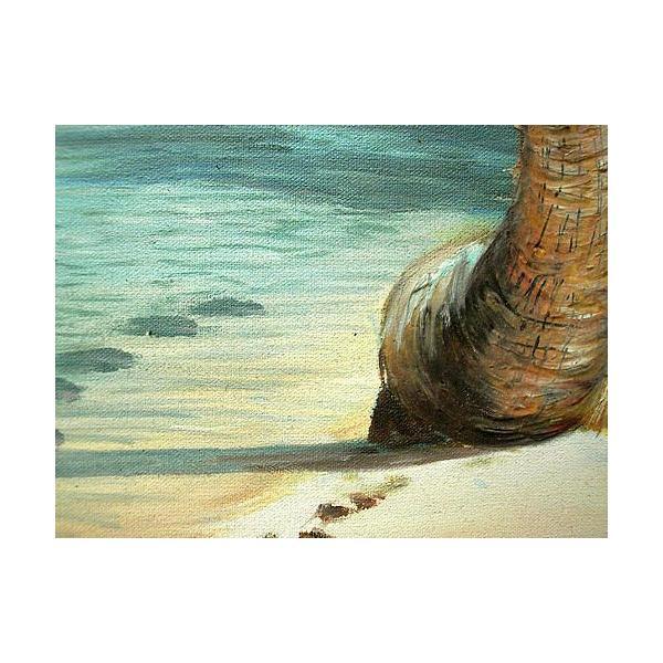 アジアン雑貨 バリ雑貨 バリアート絵画 特大 横 M.Santoの『椰子の木とSeaside』 E  [額横約99cmx縦79cm]|angkasa|05