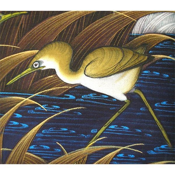 アジアン雑貨 バリ雑貨 バリアート絵画 M 横 水辺の小鳥達 ブラウン angkasa 02