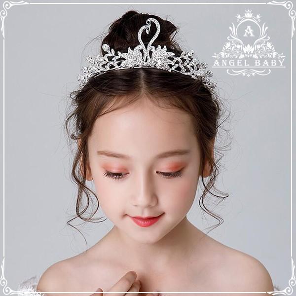 a20096d48fb16 年末セール子供ヘアアクセサリー 王冠子フラワーティアラカチューシャ キッズ髪飾り フラワーガール子供フォーマル ピアノ発表会ドレス結婚式