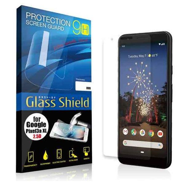 液晶保護フィルム Google Pixel 3a XL 2.5D 9H(全透明) ガラスフィルム 強化ガラス ピクセルスリーエー エックスエル