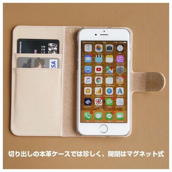 iPhone スマホケース 手帳型 本革 ヌメ革 レザー iPhone11 Pro Max iPhoneXs Max iPhone8 Plus iPhone7 iPhone6s iPhoneSE 第2世代 アイフォン|anglers-case|04
